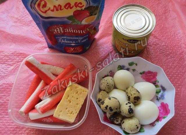 продукты для крабового салата