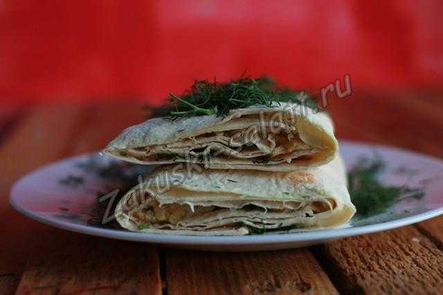 бутерброд из лаваша