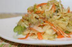 Салат из сельдерея с яблоком и морковью