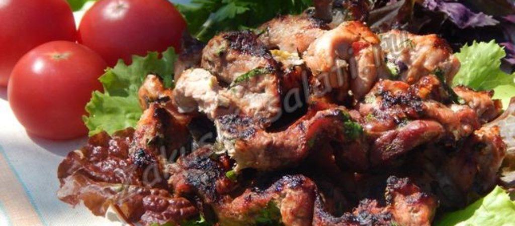 Шашлык из свинины полосками