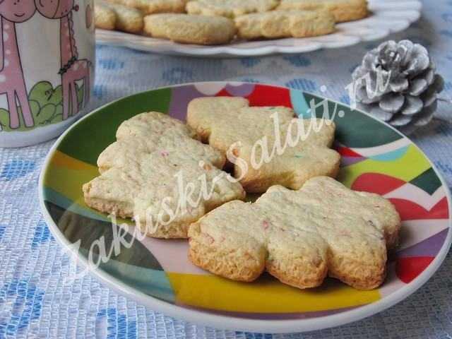 Новогоднее печенье Елочки