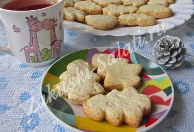 Песочное печенье «Новогодние елочки»