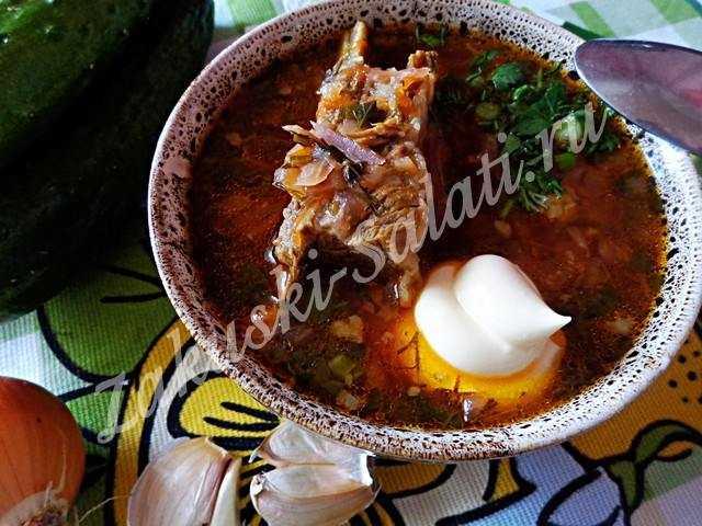 borshh s mjasom i fasolju 18 - Самый настоящий вкусный борщ с мясом и фасолью