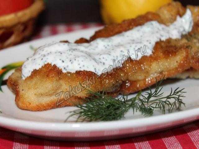 ryba zharenaja s makovym sousom1 - Рыба жареная с маковым соусом