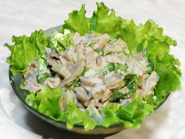 salat-s-kuricej-i-gribami