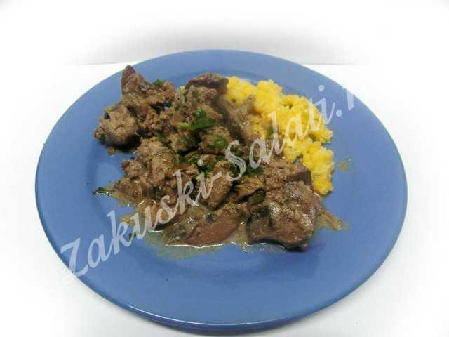 kurinaja pechenka so slivkami7 - Как вкусно приготовить куриную печенку в сливках
