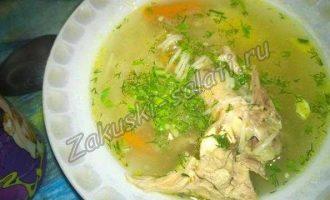 Куриный суп с репой и орегано