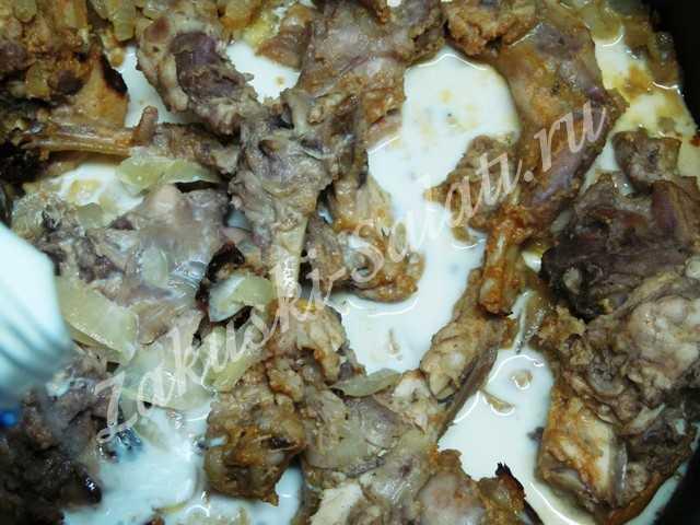 Кролик домашний в укропных сливках – кулинарный рецепт