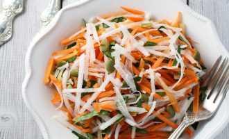 Овощной салат из репы