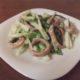 Мясной салат с консервированными кальмарами