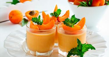 сливочный мусс с абрикосами