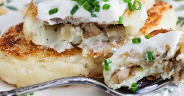 Картофельный зразы с мясной начинкой