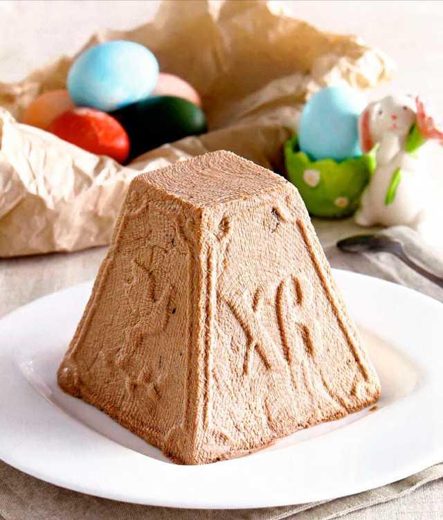 творожно-шоколадный кулич без выпекания