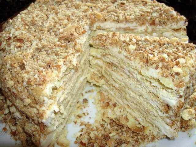 Торт Наполеон классический, пошаговый рецепт с фото