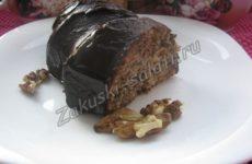 Домашний кекс с  орехами и шоколадом на молоке
