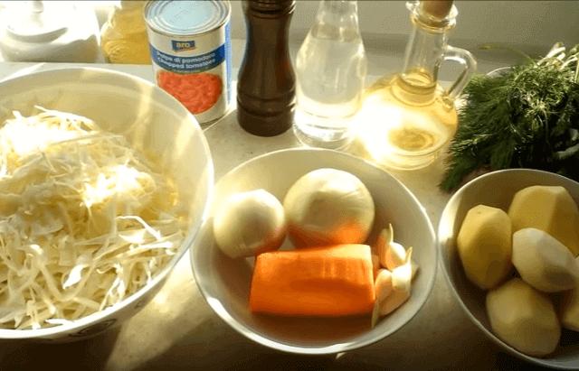 овощи для щей