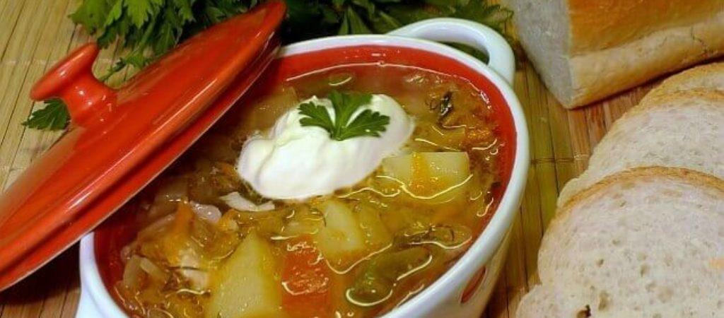 Вкусные щи со свининой без томатной пасты
